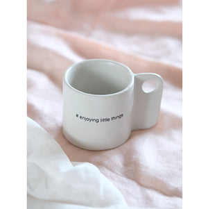 Open image in slideshow, Handmade Ceramic Cup Quote