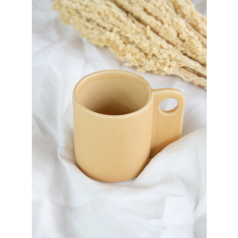 Handmade Ceramic Cup yellow