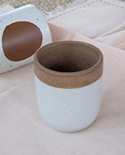 Handmade Ceramic Glass Brown