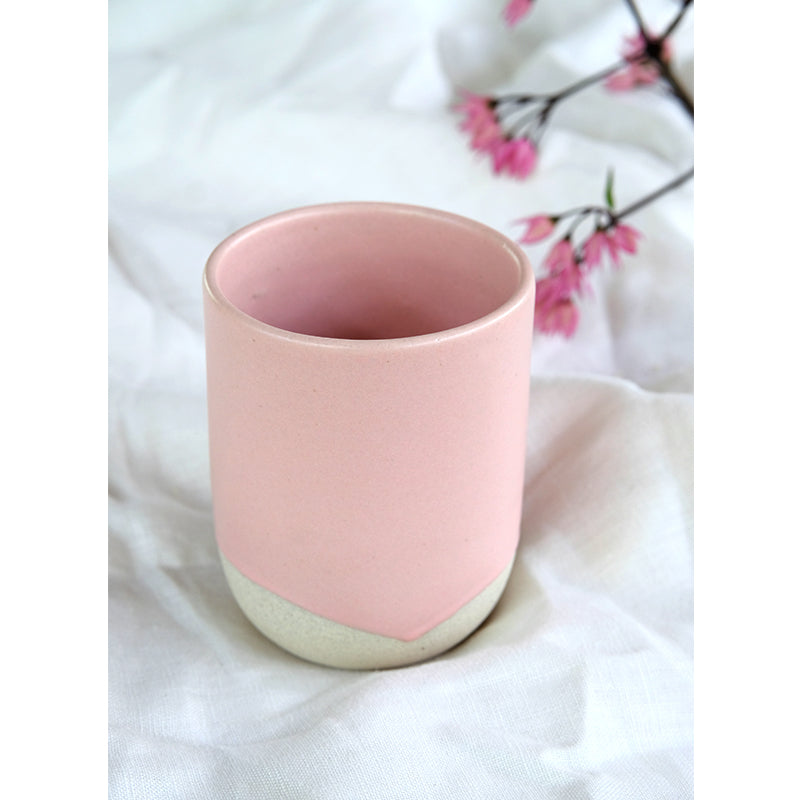 Handmade Ceramic Glass Pink