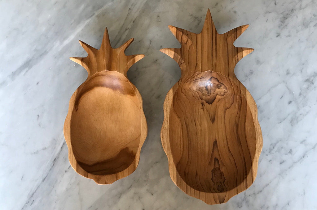 Teakwood Pineapple Bowl