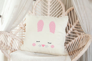 Knitted / Linen Cushion Bunny