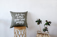 Linen Cushion Quote