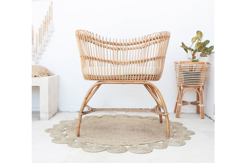 Baby bed rattan
