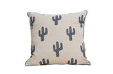 Cactus Printed Linen Cushion