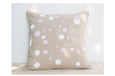 Printed Linen Cushion Dots Pink