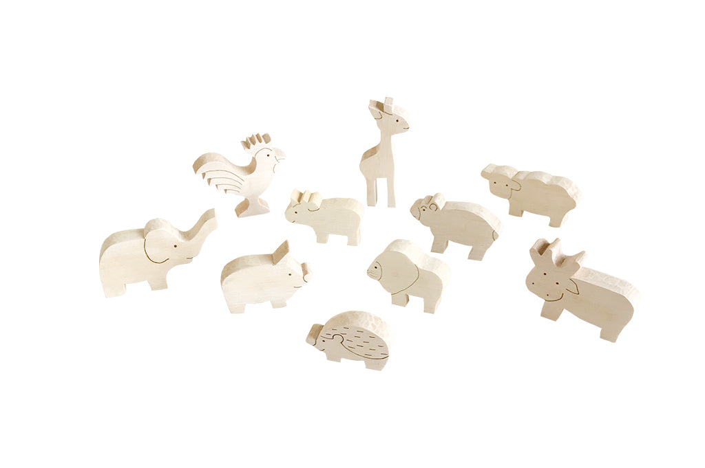 Wooden toys. Farm Animal Set