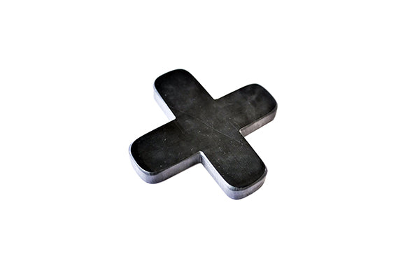 Marble Coaster Cross Black