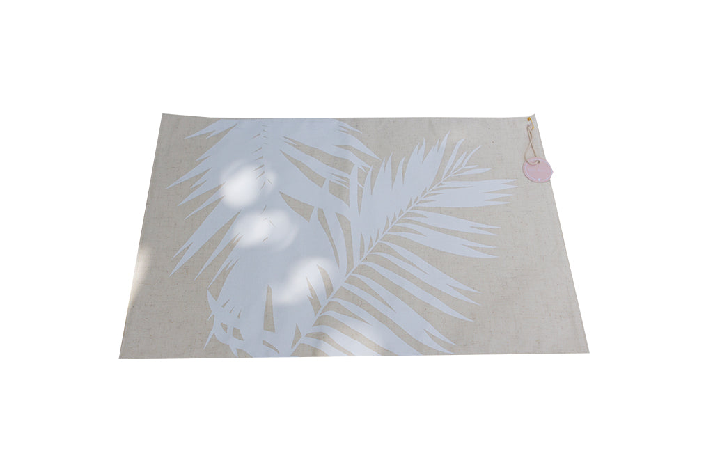 Printed Placemat Palm White