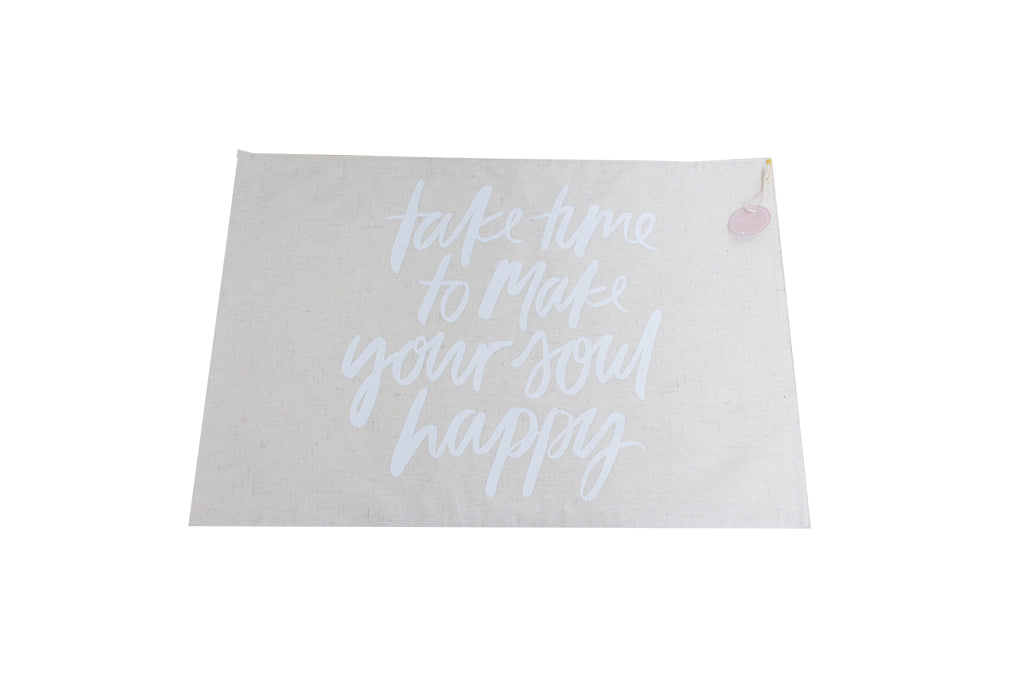 Printed Placemat Quote White