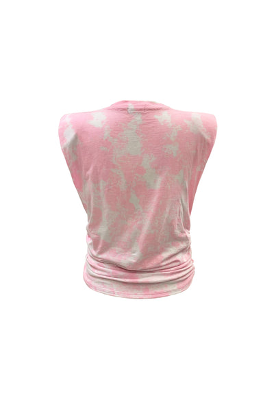 Bello Vintage Tee -  Light Pink Ice Tie Dye