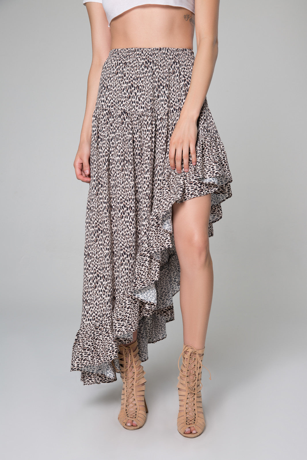 Eliza Hi-Low Ruffle Skirt