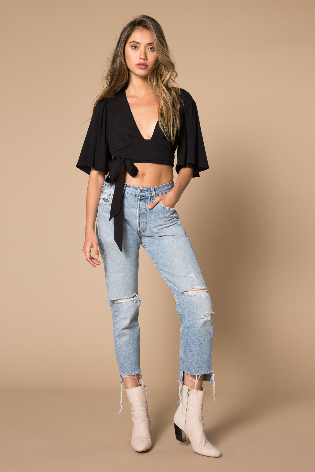 Willow Flutter Wrap Top