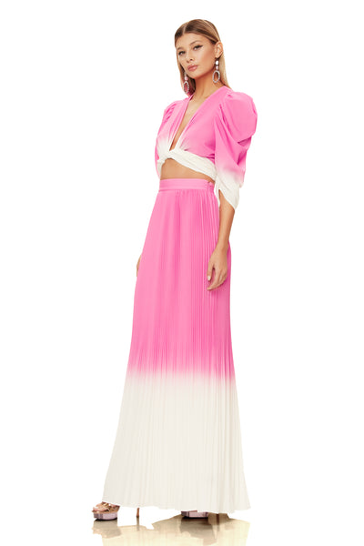 Rocco Pleated Skirt - Pink Ombre