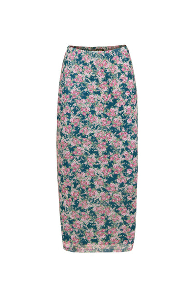 Felix Mesh Midi Skirt - Blush Bouquet
