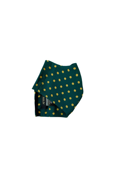 AFRM Face Mask - Forest Green Polka Dot