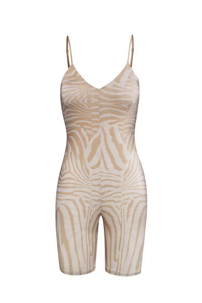 Rhea Bodysuit - Nude Placement Zebra