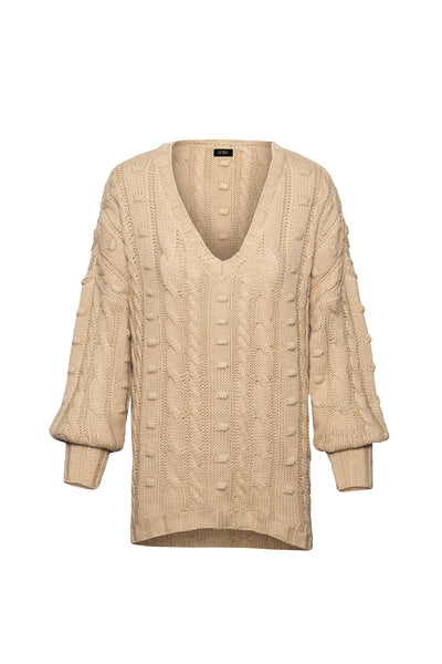 Boston Sweater Top - Sand