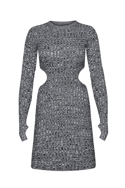 Dove Mini Dress - Marled Noir