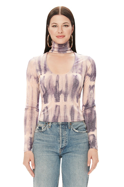 Angel Knit Top - Purple Swirl