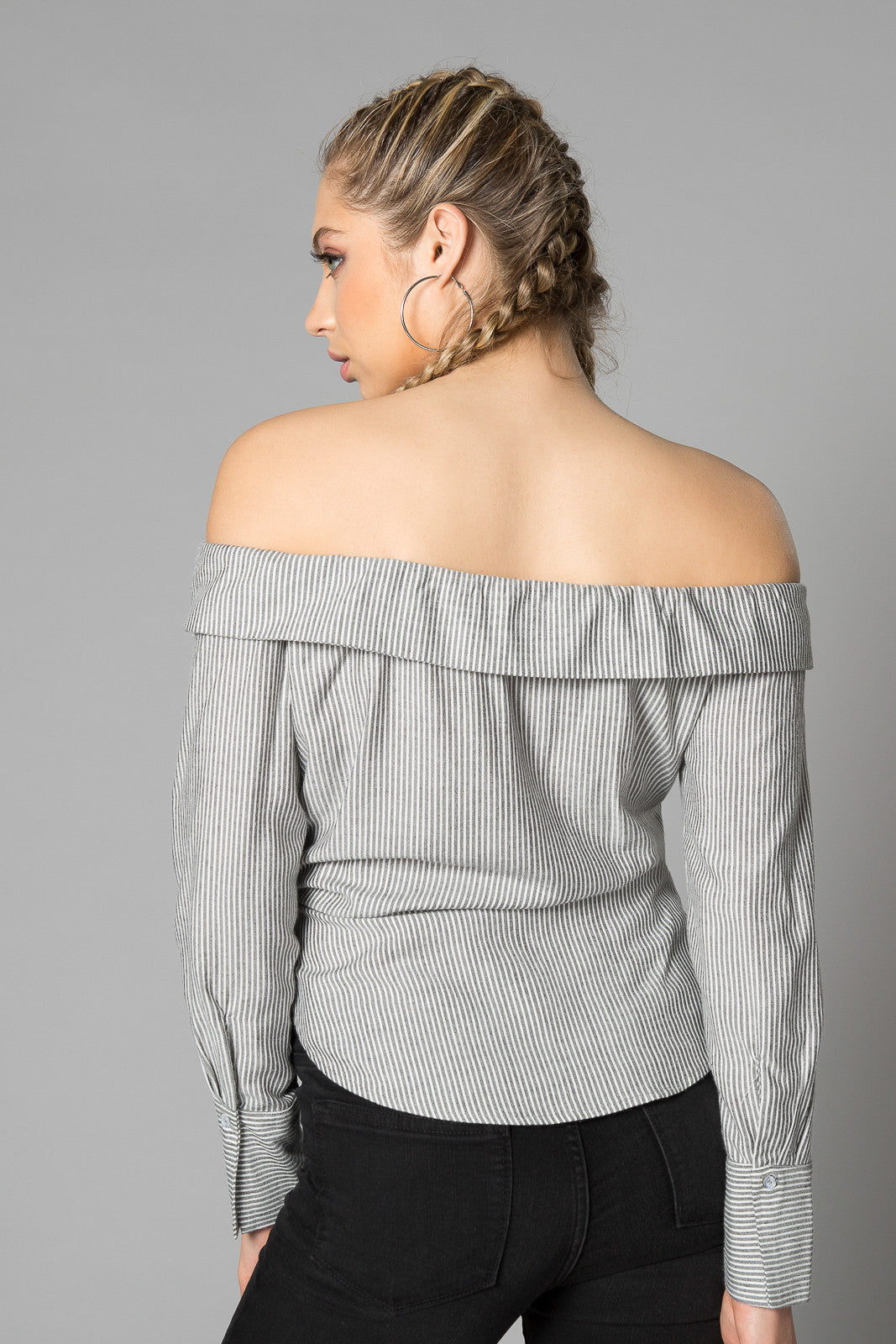 Zuma Off The Shoulder Stripe Blouse