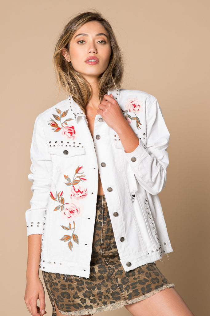 Winston Floral Embroidered Denim Jacket