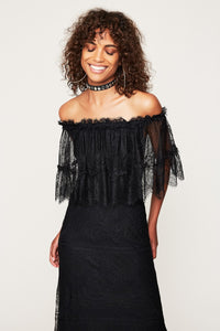Vivien Off The Shoulder Lace Maxi Dress