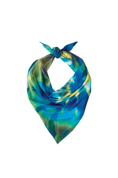 The Essential Bandana -  Yellow Spiral Tie Dye