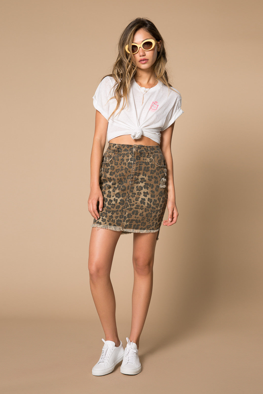 Bella Distressed Denim Skirt
