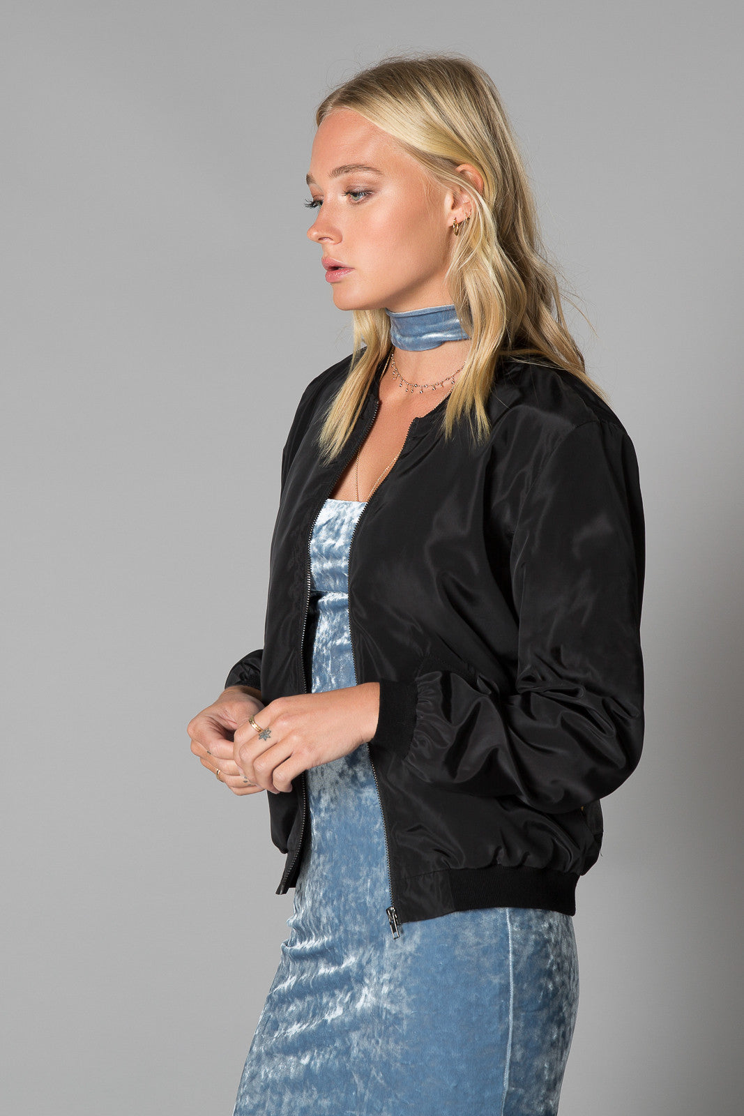 Arlo Embroidered Bomber