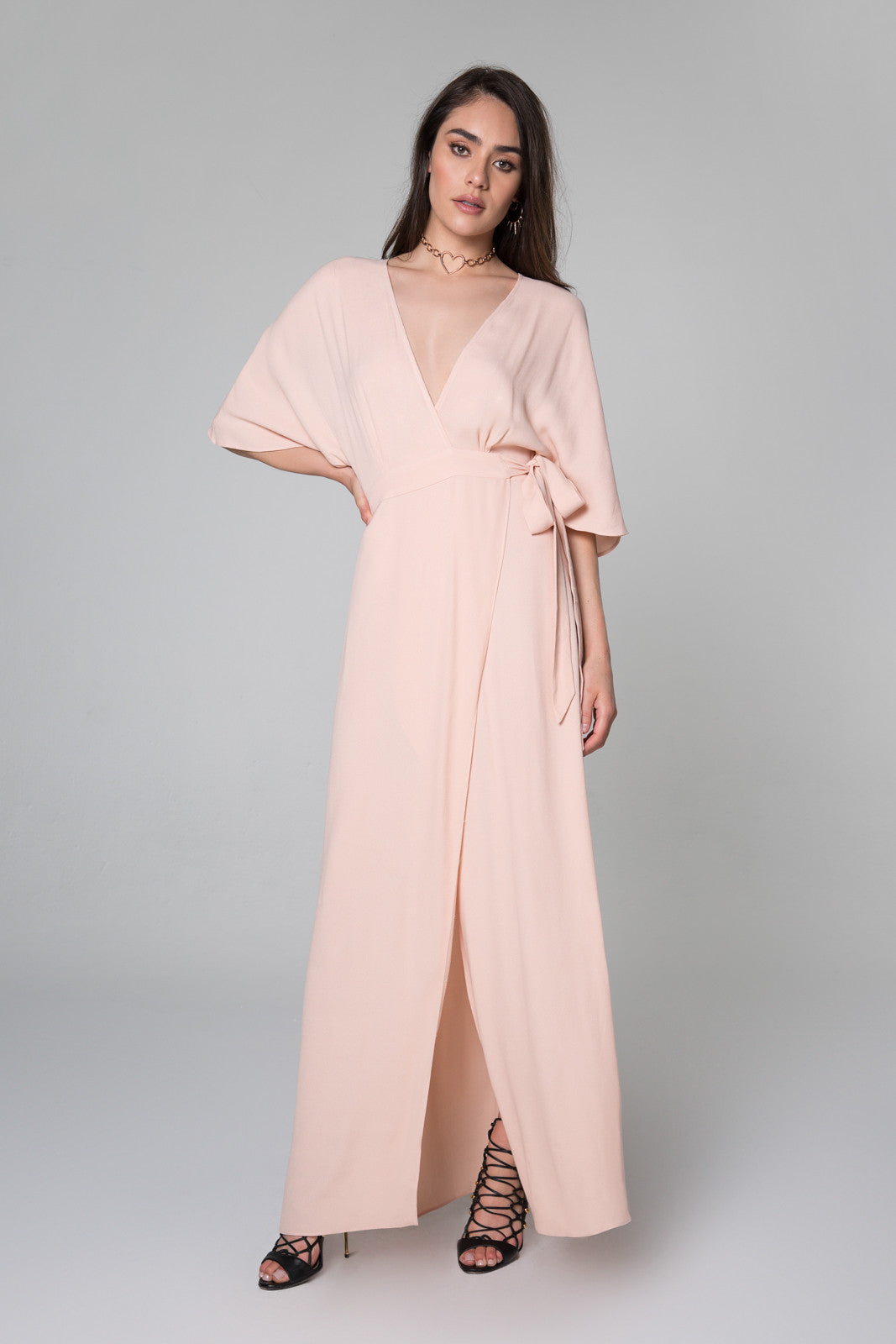 Monroe Komono Wrap Maxi Dress