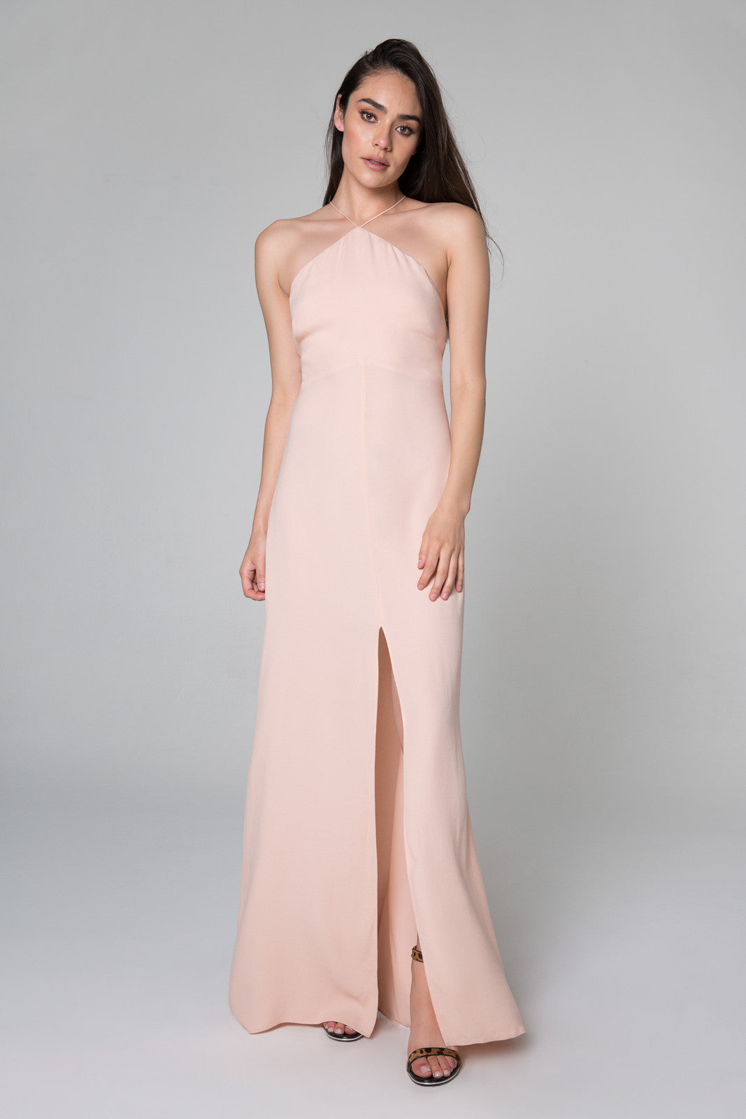 Atlas Halter Neck Maxi Dress