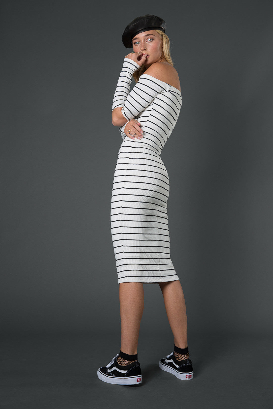 Simone Ribbed Cutout Midi Dress
