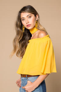 Lora Off the Shoulder Ruffle Top