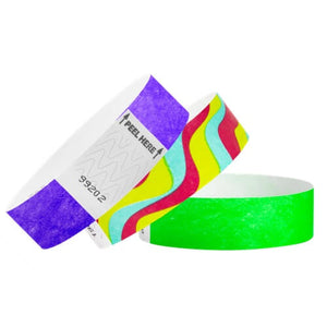 "Tyvek 3/4"" Wristbands - The Wristband Man"