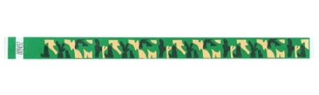 "Tyvek 3/4"" Wristbands - Camo"