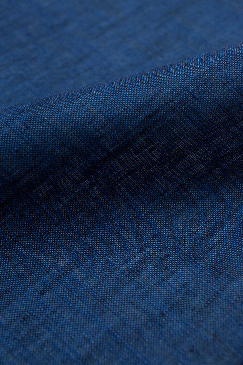 Polo Blue Linen Fabric