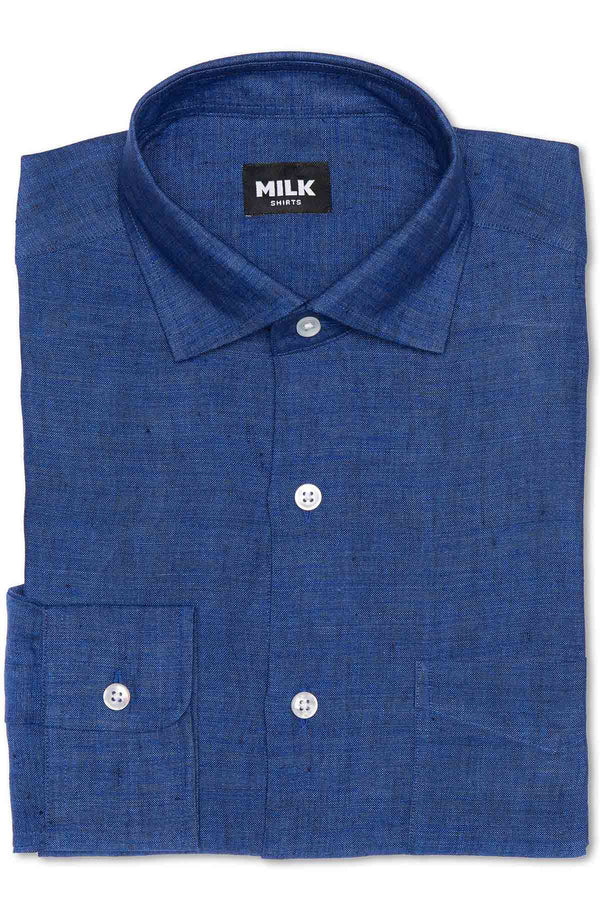 Polo Blue Linen Shirt