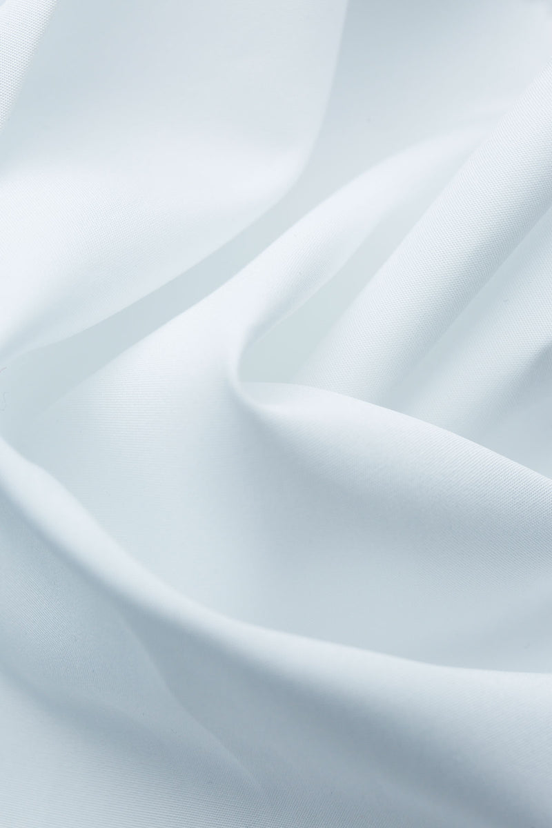 Correale 140s White Poplin Fabric