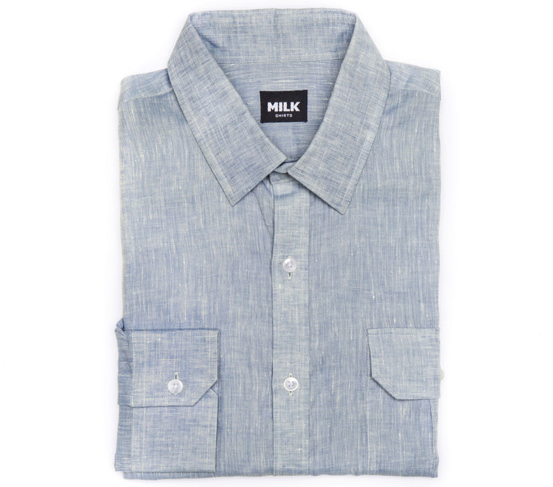 Portofino Light Blue Linen Shirt