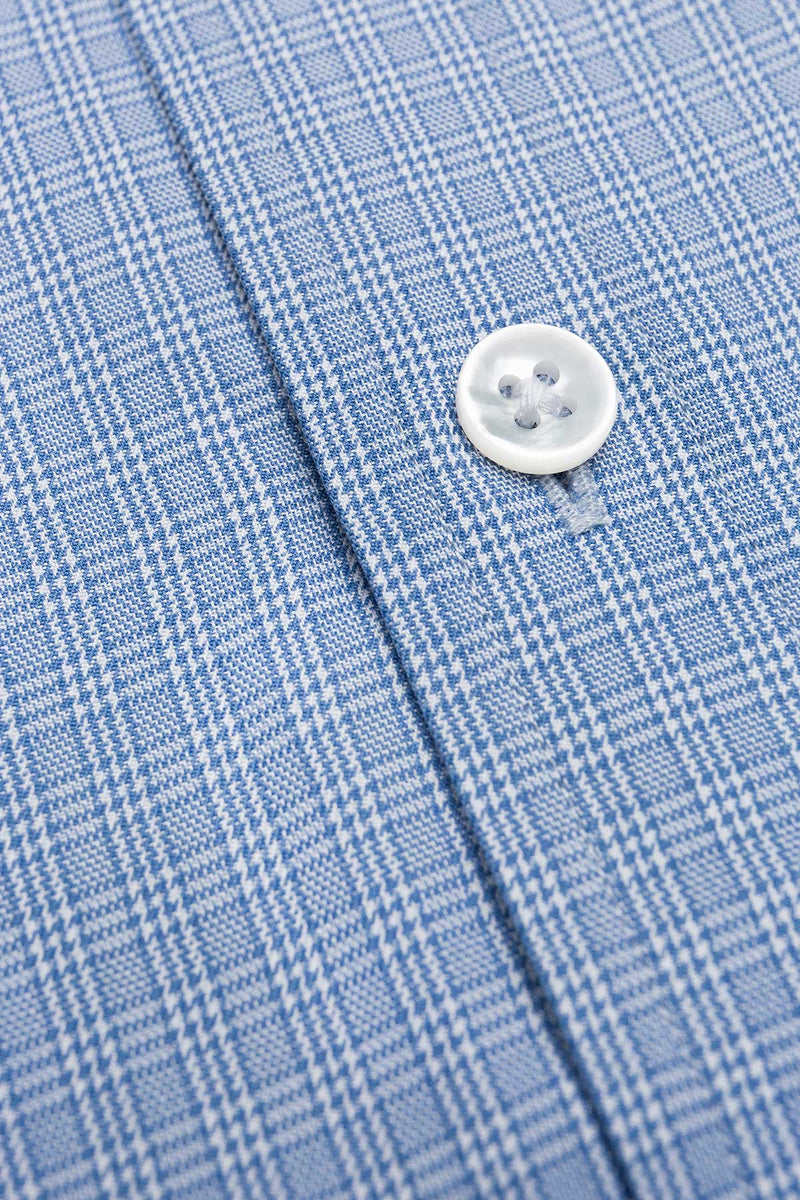 Strata 120s Blue Multi Check Twill Shirt