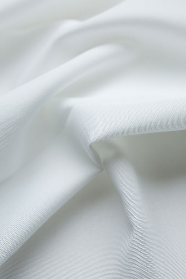 Alps Wrinkle Free White Poplin Fabric