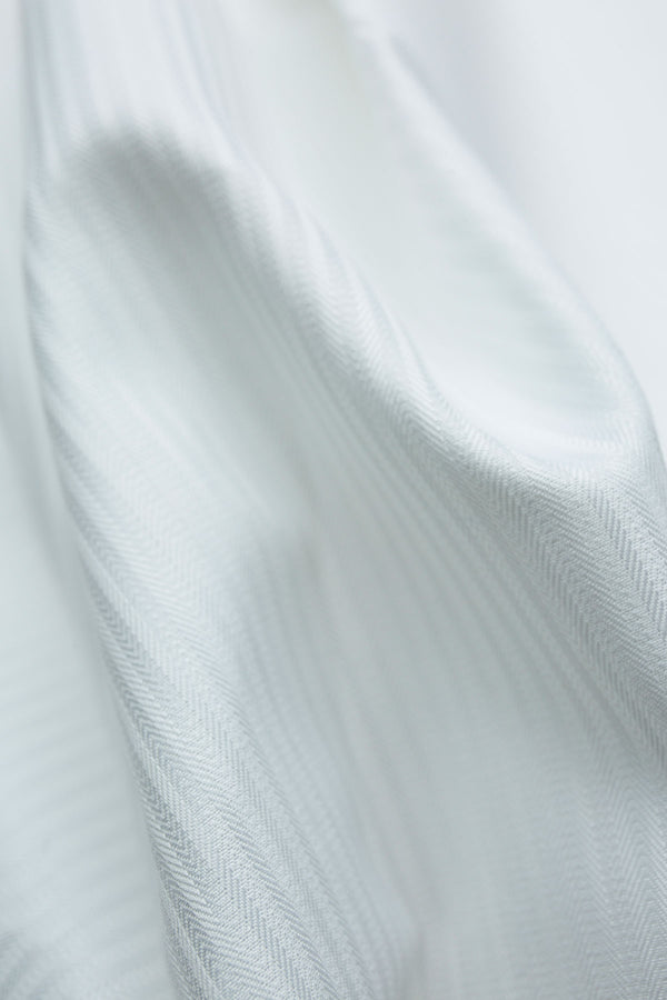 Antila 100s White Mini Herringbone Shirt