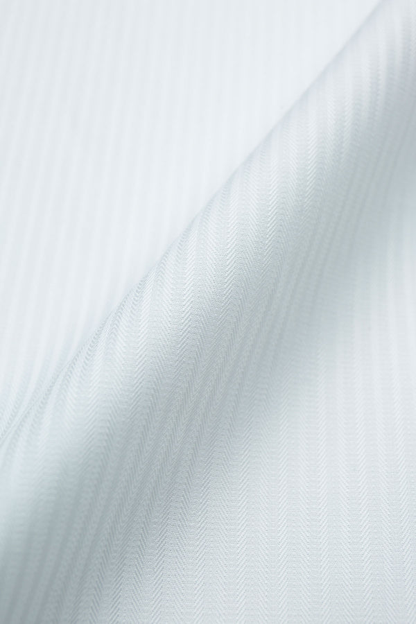 Antila 100s White Mini Herringbone Fabric
