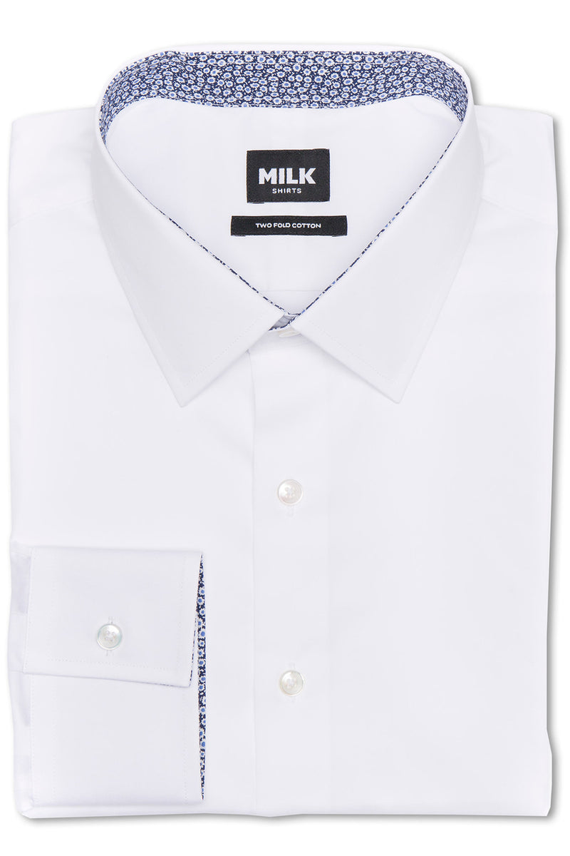 Bagio Soft White Twill with Contrast Shirt