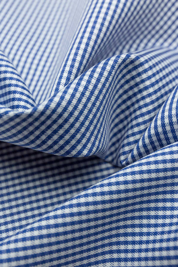 Baltimore 100s Navy Gingham Fabric