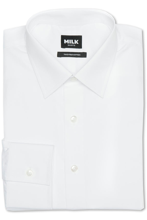 Calilo 100s White Poplin Shirt