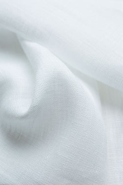 Capri White Linen Fabric
