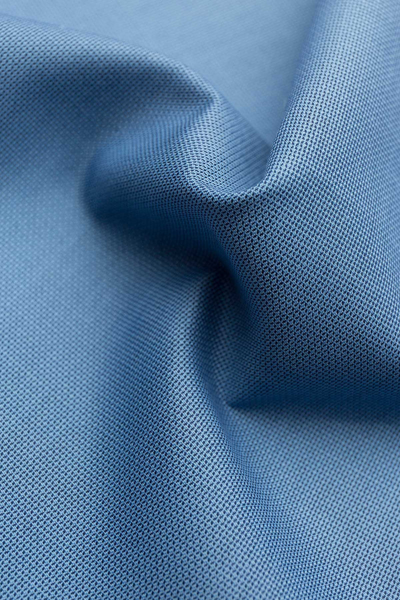 Carlo 100s Denim Blue Dobby Fabric