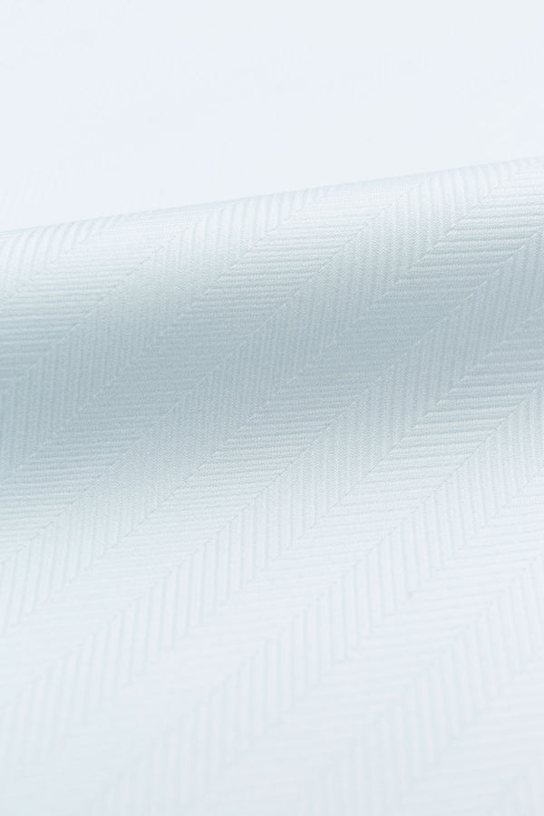 Chevron 80s White Herringbone Fabric
